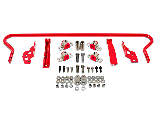 BMR Adjustable Rear Sway Bar with Fabricated End Links; Red (05-14 All)