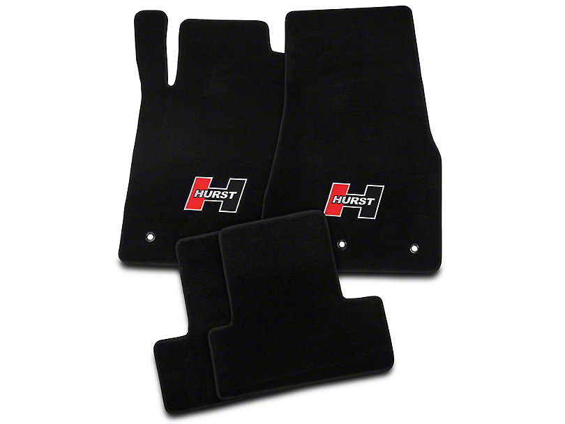 Hurst Front and Rear Floor Mats with Red Hurst Logo; Black (10-14 All)