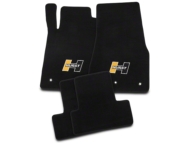 Hurst Front & Rear Floor Mats w/ Gold Hurst Logo - Black (10-14 All)