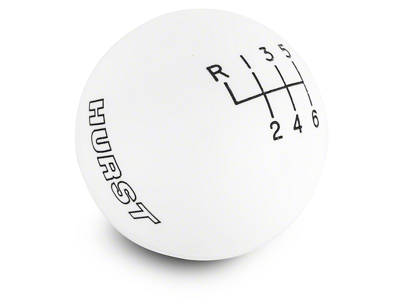 Hurst 6-Speed Shift Knob - White (15-18 GT, EcoBoost, V6)
