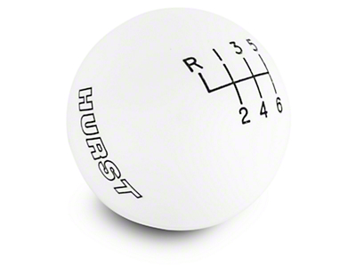 Hurst 6-Speed Shift Knob - White (15-17 GT, EcoBoost, V6)