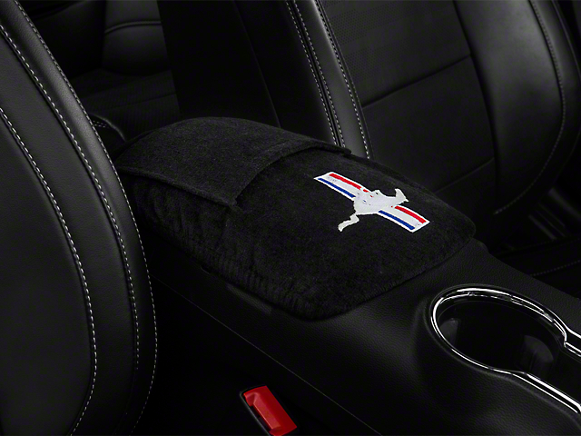 Alterum Seat Armour Center Console Cover with Tri-Bar Pony Logo (15-20 All)