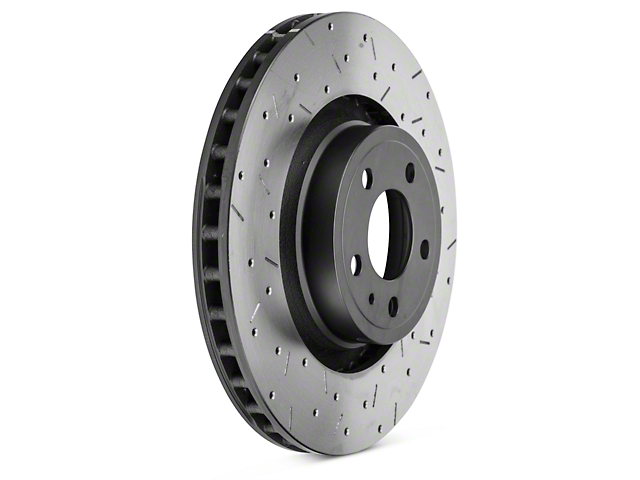 DBA 4000 XS Sport Cross-Drilled & Slotted Rotor - Front (15-18 Standard GT, EcoBoost w/ Performance Pack)