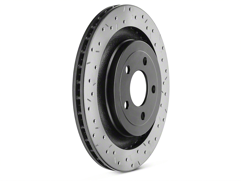 DBA 4000 XS Sport Cross-Drilled & Slotted Rotor - Rear (15-18 GT; EcoBoost w/ Performance Pack)