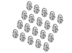Coyote Chrome Acorn Lug Nut Kit; 1/2-Inch x 20; Set of 20 (79-14 All)