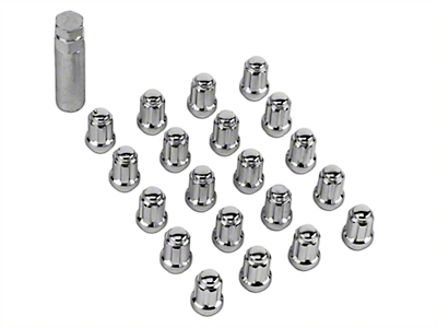 Chrome 6 Spline Lug Nut Kit - 14mm x 1.50 (15-19 All)