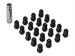 Black 6 Spline Lug Nut Kit; 14mm x 1.5; Set of 20 (15-20 All)