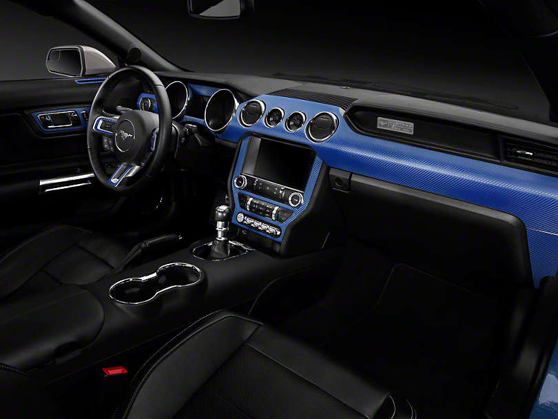 American Muscle Graphics Blue Carbon Fiber Dash Kit (15-19 All)