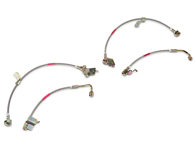 SR Performance Stainless Braided Brake Lines - Front & Rear (15-19 GT, EcoBoost, V6)