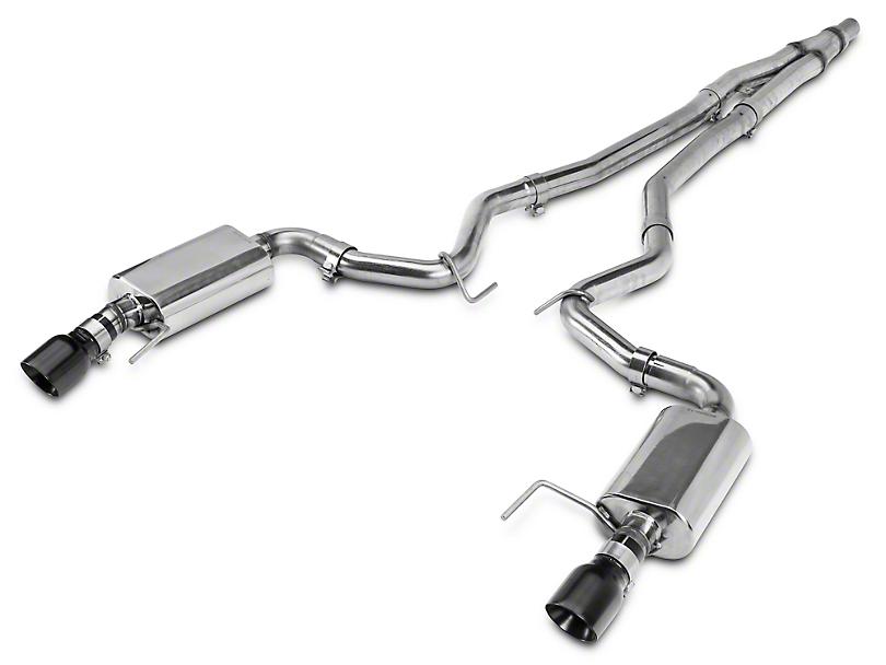 Kooks Cat-Back Exhaust w/ Black Tips (15-19 EcoBoost w/o Active Exhaust)