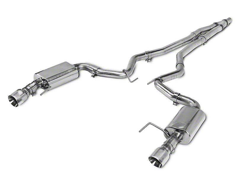 Kooks Cat-Back Exhaust w/ Polished Tips (15-19 EcoBoost w/o Active Exhaust)