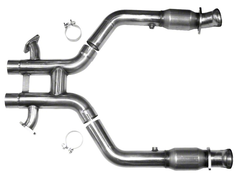 Kooks GREEN Catted 3 in. x 2.75 in. H-Pipe - Stainless (12-13 BOSS 302 w/ Long Tube Headers)