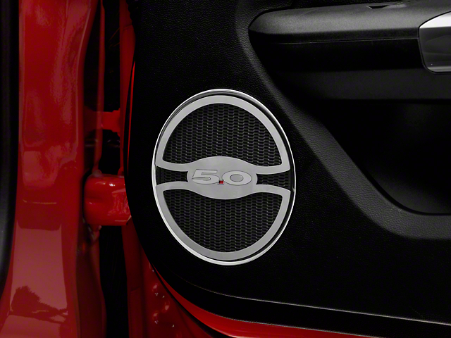 Brushed Lower Door Speaker Trim - 5.0 Logo (15-18 GT)