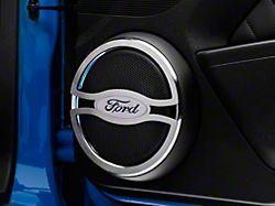 Modern Billet Speaker Trim with Ford Oval Logo (10-14 All)