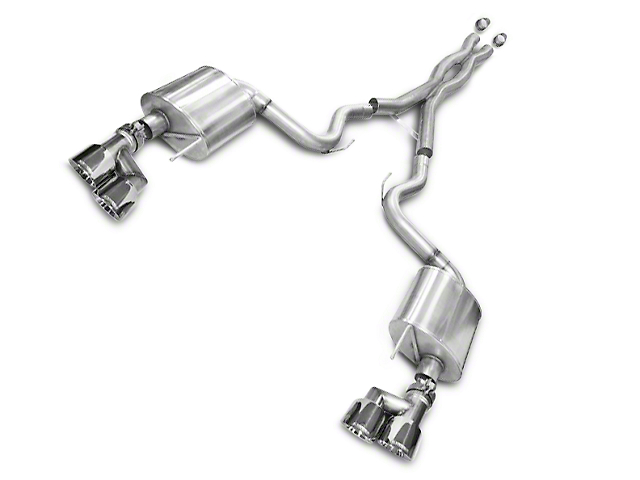 Corsa Sport 3 in. Cat-Back Exhaust w/ Polished Quad Tips (15-17 GT Premium Fastback; 18-19 GT Fastback w/o Active Exhaust)
