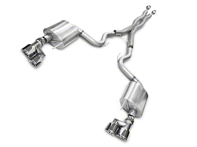 Corsa Sport 3 in. Cat-Back Exhaust - Polished Quad Tips (15-17 GT Premium Fastback; 2018 GT Fastback w/o Active Exhaust)
