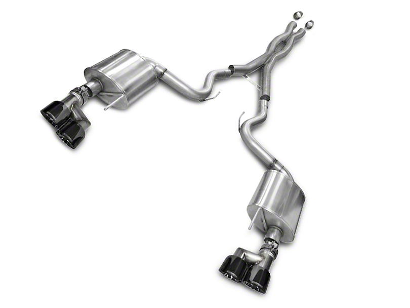 Corsa Sport 3 in. Cat-Back Exhaust - Black Quad Tips (15-17 GT Premium Fastback; 2018 GT Fastback w/o Active Exhaust)