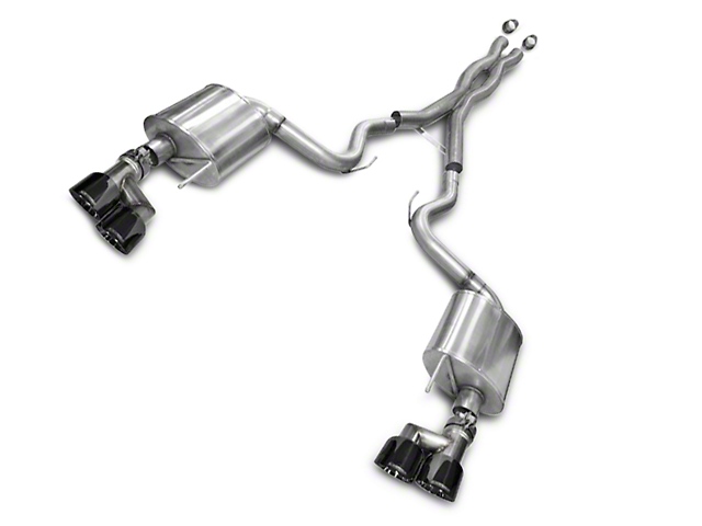 Corsa Sport 3 in. Cat-Back Exhaust w/ Black Quad Tips (15-17 GT Premium Fastback; 18-19 GT Fastback w/o Active Exhaust)