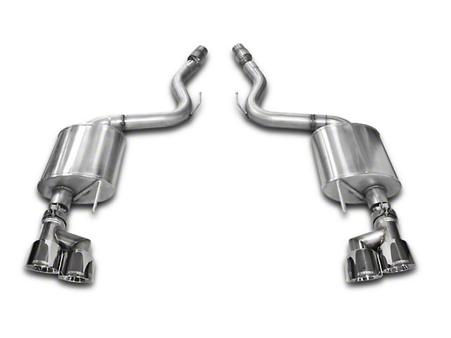 Corsa Touring 3 in. Axle-Back Exhaust - Polished Quad Tips (15-17 GT Premium Fastback)