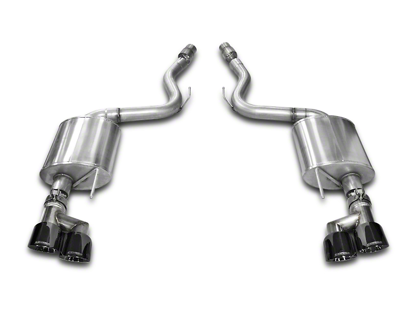 Corsa Touring 3 in. Axle-Back Exhaust w/ Black Quad Tips (15-17 GT Premium Fastback; 18-20 GT Fastback w/o Active Exhaust)
