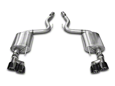 Corsa Touring 3 in. Axle-Back Exhaust - Black Quad Tips (15-17 GT Premium Fastback; 2018 GT Fastback w/o Active Exhaust)