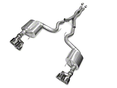 Corsa Xtreme 3 in. Cat-Back Exhaust - Polished Quad Tips (15-17 GT Premium Fastback; 2018 GT Fastback w/o Active Exhaust)