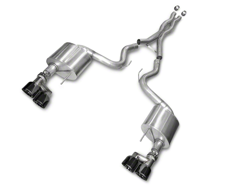 Corsa Xtreme 3 in. Cat-Back Exhaust - Black Quad Tips (15-17 GT Premium Fastback; 18-19 GT Fastback w/o Active Exhaust)