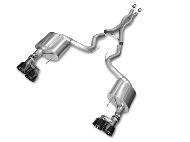 Corsa Xtreme 3 in. Cat-Back Exhaust w/ Black Quad Tips (15-17 GT Premium Fastback; 18-20 GT Fastback w/o Active Exhaust)