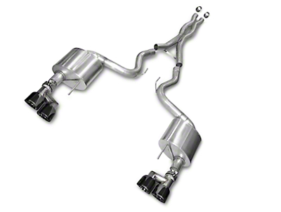 Corsa Xtreme 3 in. Cat-Back Exhaust - Black Quad Tips (15-17 GT Premium Fastback; 2018 GT Fastback w/o Active Exhaust)