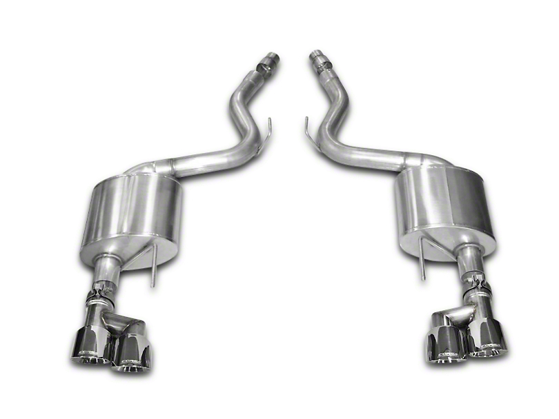 Corsa Sport 3 in. Axle-Back Exhaust w/ Polished Quad Tips (15-17 GT Premium Fastback; 18-20 GT Fastback w/o Active Exhaust)