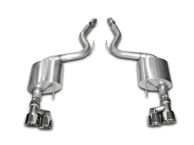 Corsa Sport 3 in. Axle-Back Exhaust w/ Polished Quad Tips (15-17 GT Premium Fastback; 18-19 GT Fastback w/o Active Exhaust)