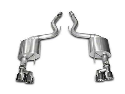 Corsa Sport 3 in. Axle-back Exhaust - Polished Quad Tips (15-17 GT Premium Fastback)