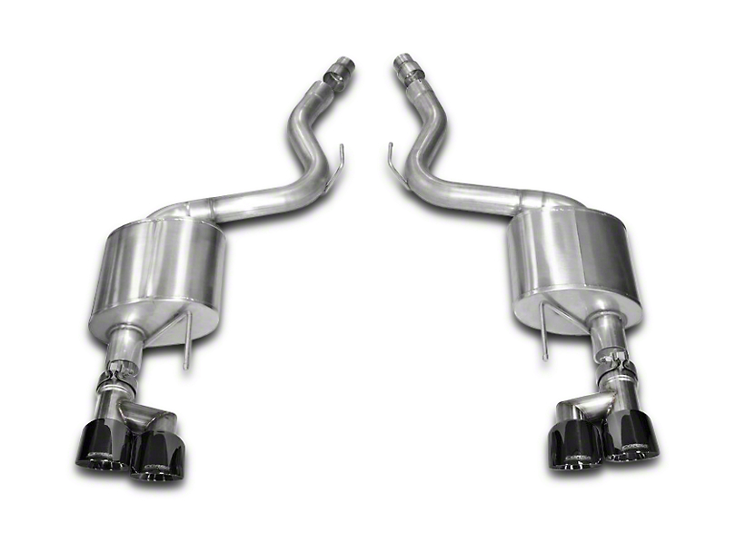 Corsa Sport 3 in. Axle-back Exhaust - Black Quad Tips (15-17 GT Premium Fastback)