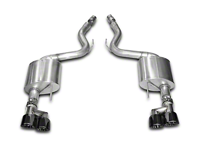 Corsa Sport 3 in. Axle-back Exhaust - Black Quad Tips (15-17 GT Premium Fastback; 2018 GT Fastback w/o Active Exhaust)