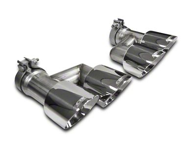 Corsa Pro Series Quad 4 in. Exhaust Tip Kit - Polished (15-19 GT w/ Corsa Exhaust)
