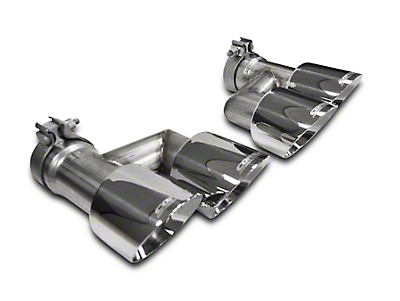Corsa Pro Series Quad 4 in. Exhaust Tip Kit - Polished (15-17 GT)
