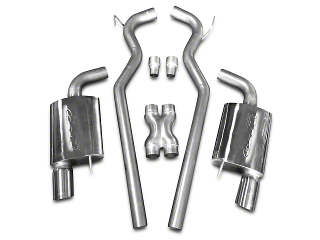 CGS Motorsports Cat-Back Exhaust; Aluminized Piping (15-17 GT)