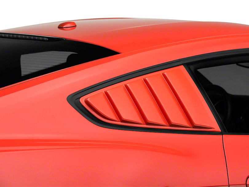 SpeedForm ABS Quarter Window Louvers - Unpainted (15-19 Fastback)
