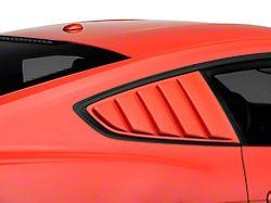 SpeedForm ABS Quarter Window Louvers; Unpainted (15-21 Fastback)