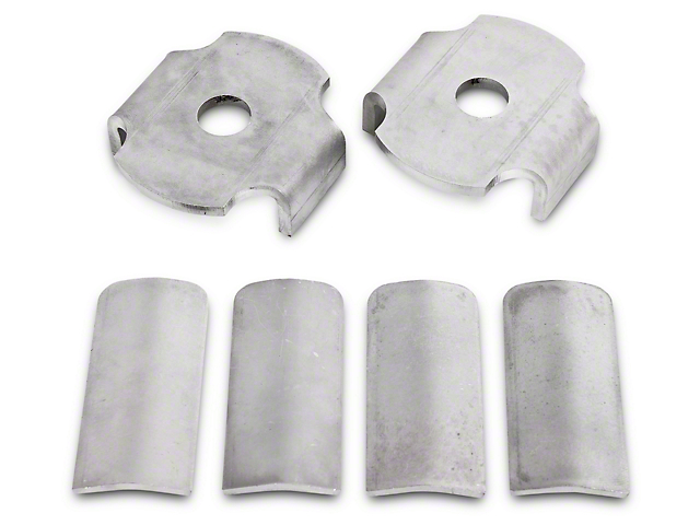 BMR Rear Cradle Bushing Inserts - Bare Steel (15-18 All)