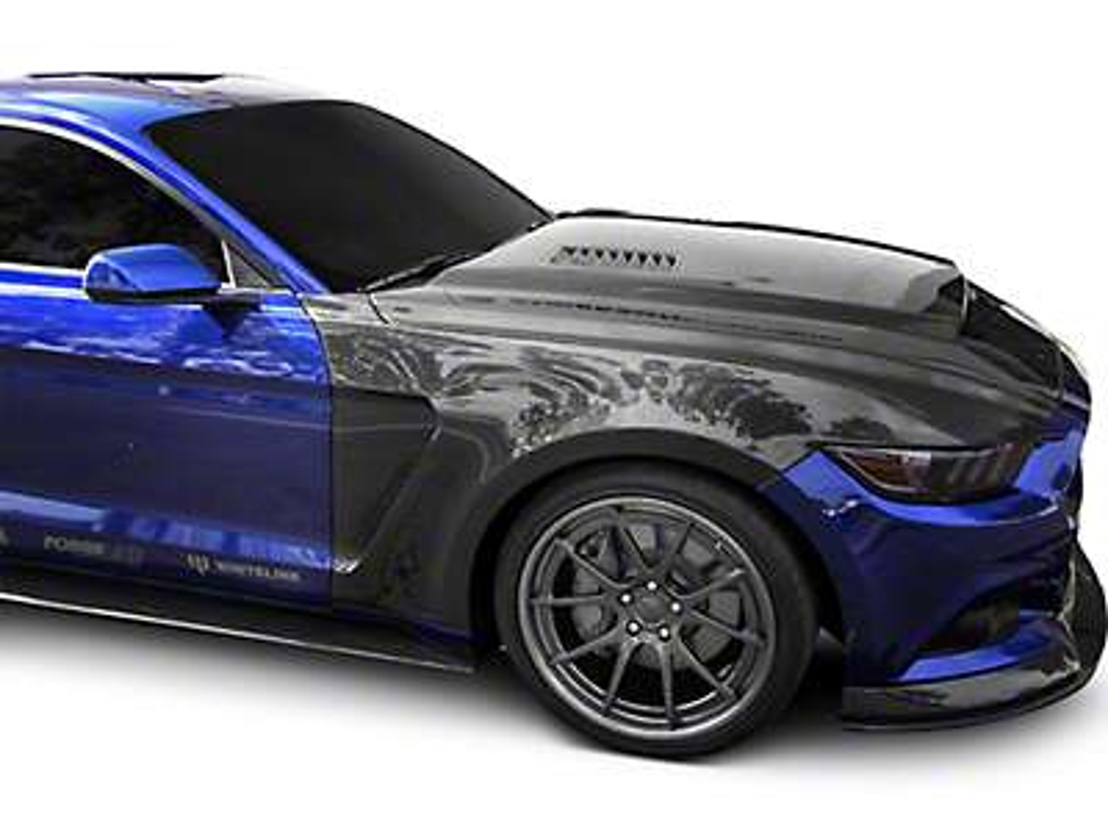 Anderson Composites Type-GR GT350 Style Front Fenders - Carbon Fiber (15-17 GT, EcoBoost, V6)