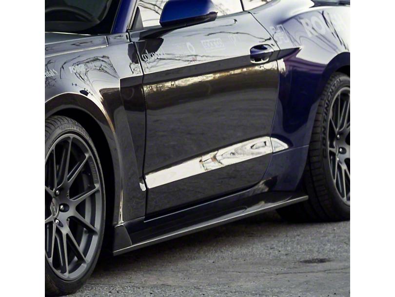 Anderson Composites Type-GR GT350 Style Rocker Panel Splitters - Carbon Fiber (15-20 GT, EcoBoost, V6)