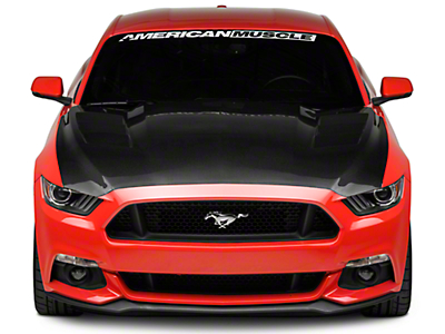 Anderson Composites Heat Extractor Hood - Double Sided Carbon Fiber (15-17 GT, EcoBoost, V6)