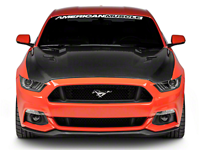 Anderson Composites Type-AT Hood - Double Sided Carbon Fiber (15-17 GT, EcoBoost, V6)