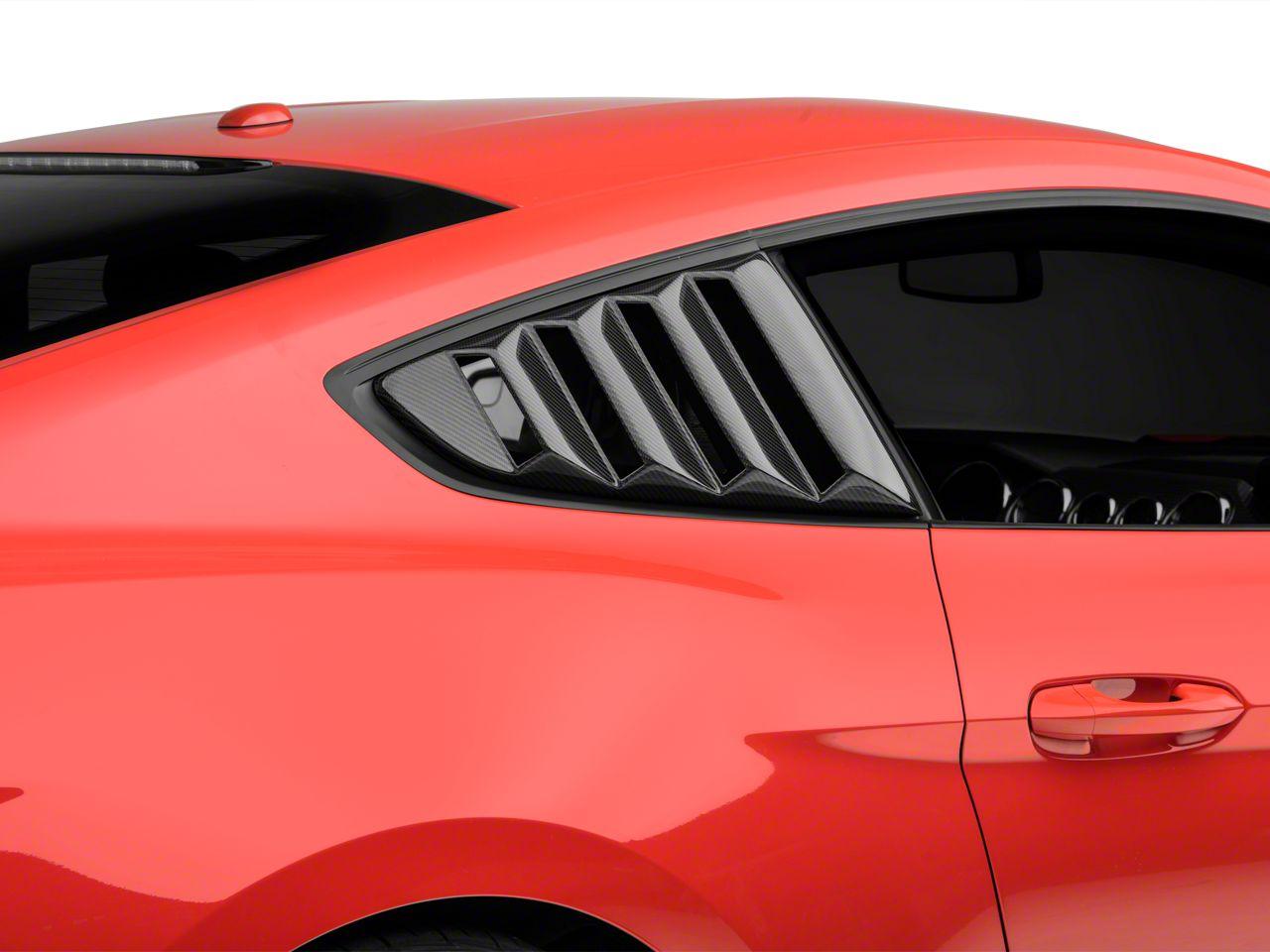 Anderson Composites Quarter Window Louvers - Carbon Fiber (15-19 Fastback)