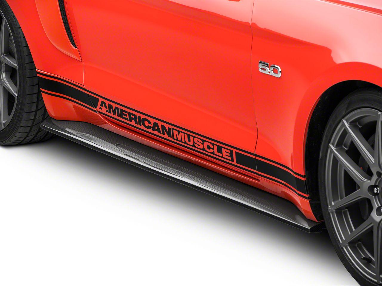 Anderson Composites Type-AR Rocker Panel Splitters - Carbon Fiber (15-19 GT, EcoBoost, V6)