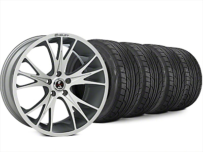Shelby CS1 Hyper Silver Wheel & NITTO NT555 G2 Tire Kit - 20x9 (15-17 All)