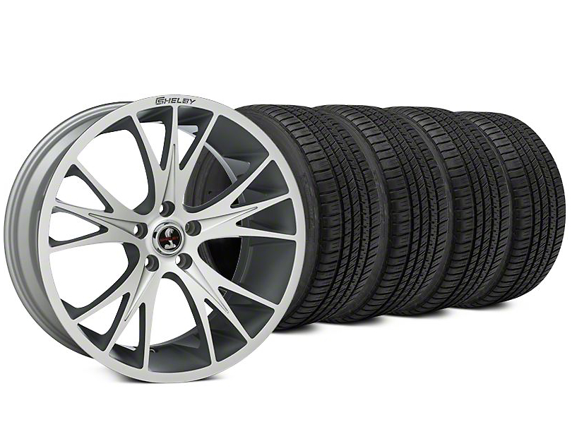 Shelby CS1 Hyper Silver Wheel & Michelin Pilot Sport A/S 3+ Tire Kit - 20x9 (15-17 All)