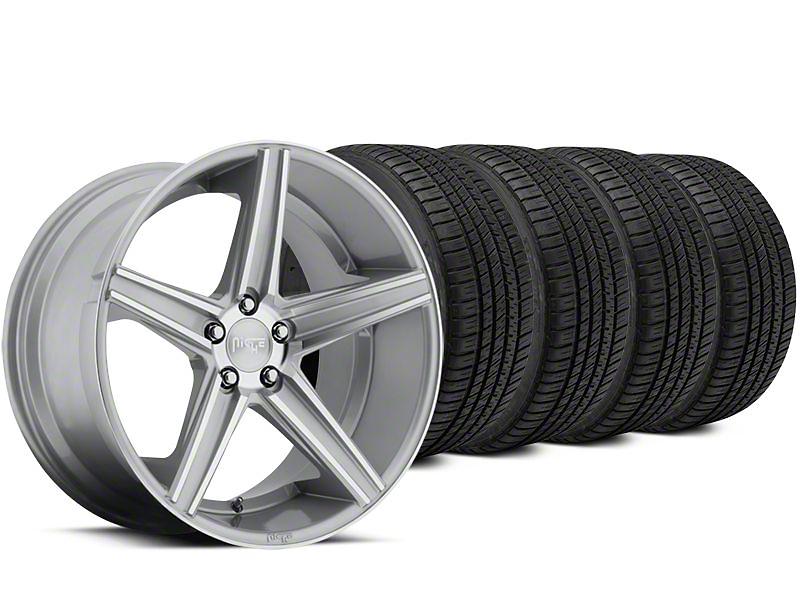 Niche Apex Machined Silver Wheel & Michelin Pilot Sport A/S 3+ Tire Kit - 20x8.5 (15-17 All)