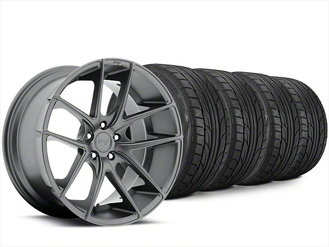Niche Targa Matte Anthracite Wheel & NITTO NT555 G2 Tire Kit - 20x8.5 (15-18 All)